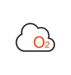 O2 icon - oxygen sign symbol nature isolated on vector