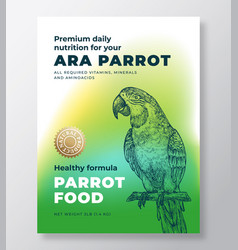 pet bird food product label template abstract vector image