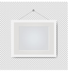 Picture white frame isolated transparent vector