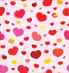 Pink Seamless Pattern With Hearts CS5 vector