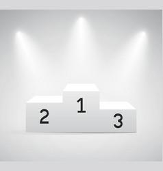 podium three rank places with spotlight vector image