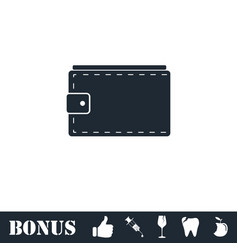 purse icon flat vector image