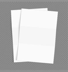 realistic blank sheet paper mockup vector image