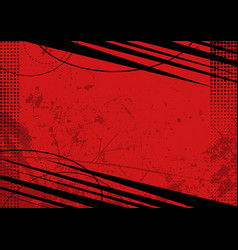 red grunge background with texture vector image