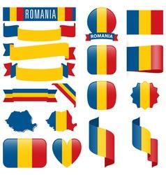Romania flags vector image