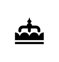 Royal crown and power symbol glyph icon vector