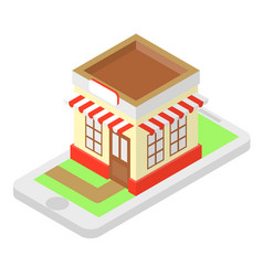 shop isometric vector image