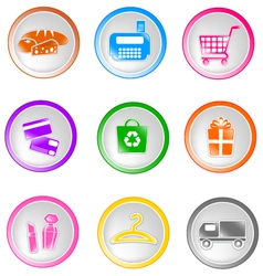 Shopping icons small vector
