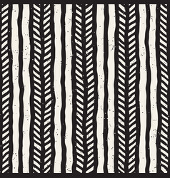 simple ink geometric pattern monochrome black and vector image