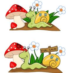Snail cartoon vector