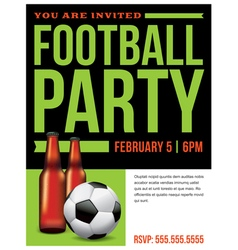 Soccer Football Party Inivitation Template vector image