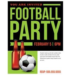 Soccer football party inivitation template vector