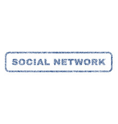 Social network textile stamp vector