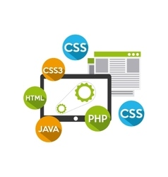 Software programming concept icon vector