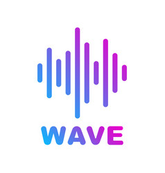 Sound and audio waves logotype of music and audio vector