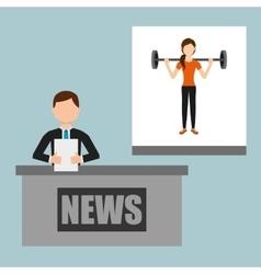 Sports news vector
