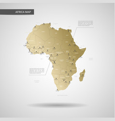 stylized africa map vector image