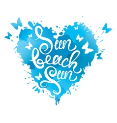 sun beach fun heart 380 vector image