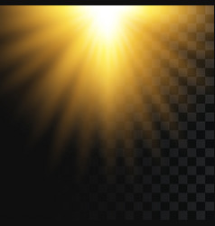 sunlight on transparent background falling solar vector image