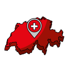Switzerland map isolated icon vector