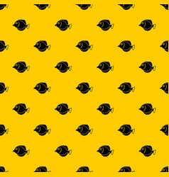 Tang fish zebrasoma flavescens pattern vector