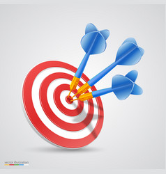 target with darts vector image