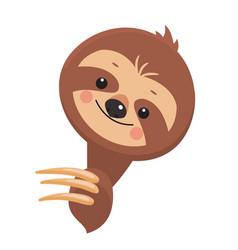 Template of joyful sloth vector