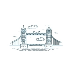 Tower Bridge in London vector image