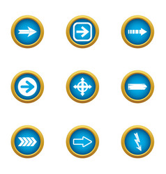 Turnout icons set flat style vector