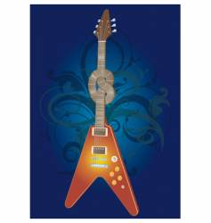twisted electric guitar vector image