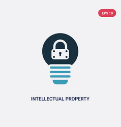 Two color intellectual property icon from law and vector