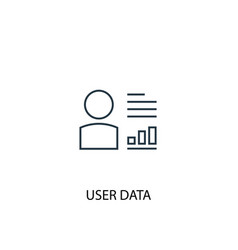 user data concept line icon simple element vector image