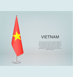 Vietnam hanging flag on stand template vector