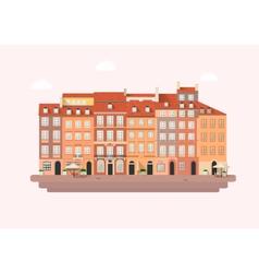 Warsaw market square vector