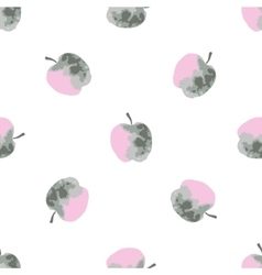 Watercolor apples pattern Hand drawn vector image