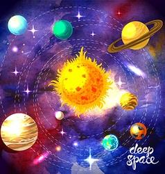 Watercolor space vector