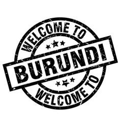 welcome to burundi black stamp vector image vector image