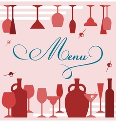 wine glasses anf goblets vector image