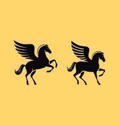 Winged horse symbol pegasus vector