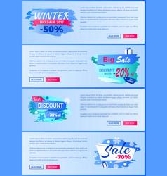 winter season best discount 30 off 2017 final sale vector image
