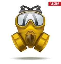 Yellow gas mask respirator vector