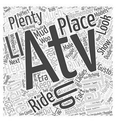 an atv trail date Word Cloud Concept vector image vector image