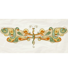 stylized dragonfly vector image vector image