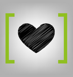 tie sign black scribble icon in citron vector image