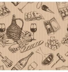 wine retro seamless pattern vector image vector image