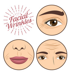 young woman facial wrinkles troubles for anti vector image vector image
