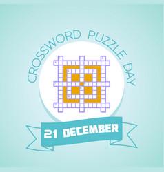 21 december crossword puzzle day vector image