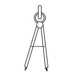 school compass tool study outline vector image