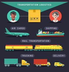 transportation logistics conceptsea air vector image