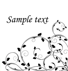 abstract floral background black and white vector image vector image